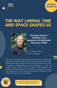 The Way Liminal Time and Space Shapes Us