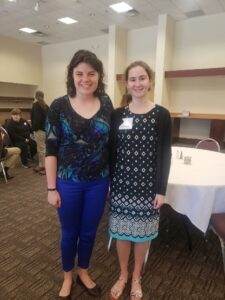 Molly McDermott and Mikaela Meyer (Purdue Stamps Alum) at the CSAFE All Hands Meeting.