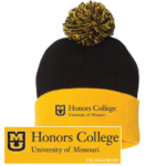 Black and gold Honors College Beanie