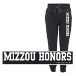 Black and white Mizzou Honors Sweatpants