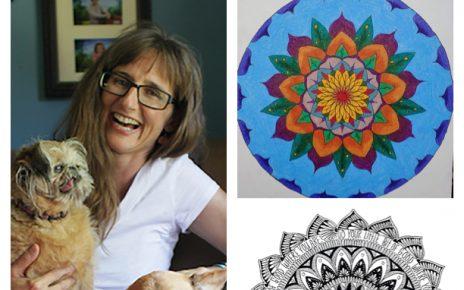 Deborah Huelsbergen portrait with mandalas