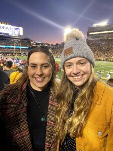 Kathryn Gluesenkamp and roommate Abby at Mizzou football homecoming game.