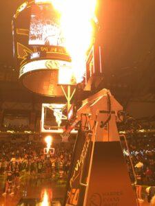 Flame guns at Mizzou vs. Kentucky basketball game.
