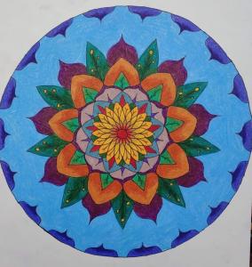 Multicolored mandala