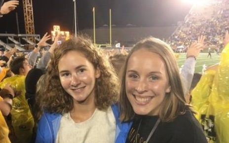 Molly McDermott and Jessica Blake at Football Game
