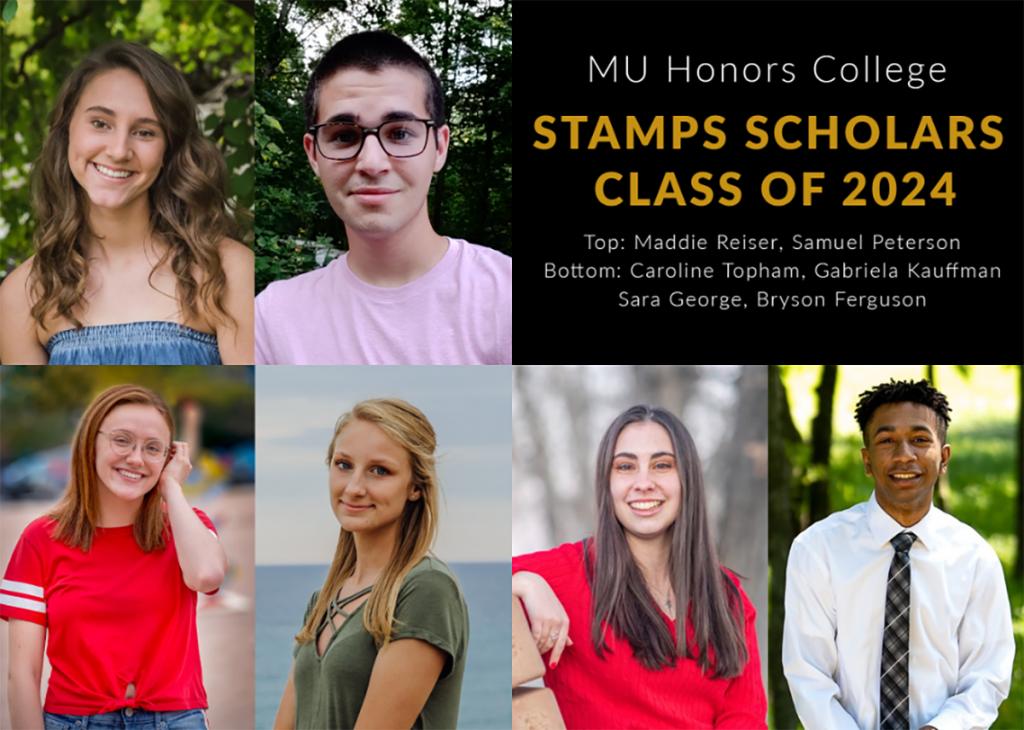 Collage of the MU Honors College's incoming Stamps Scholarship recipients