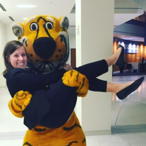 Kylie Tutko with Truman the Tiger