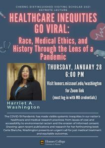Harriet Washington Keynote Flyer