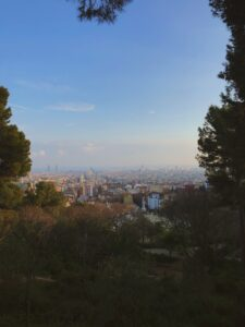 View of the city from the top of Park Guell