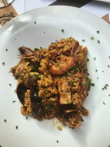 Dish of paella