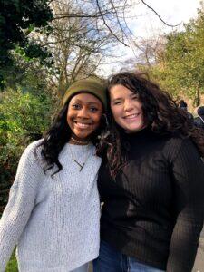 Toyin Jackson and friend