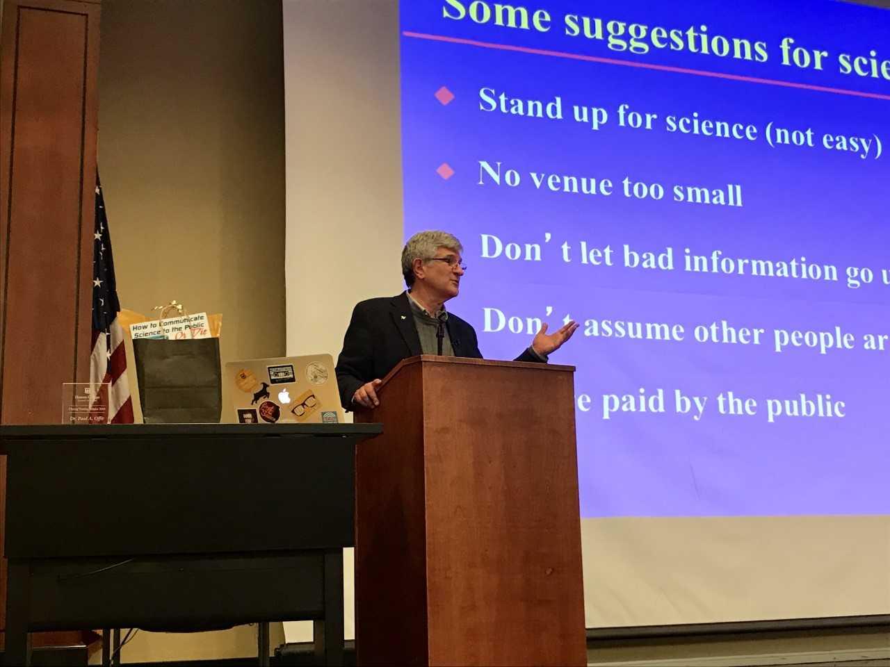 Dr. Offit lecture