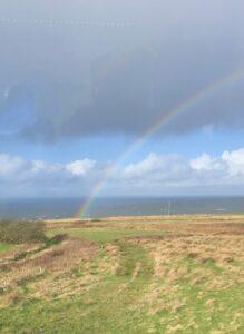 Rainbow in Irish countryside